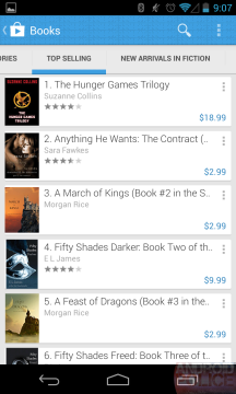 Obchod Play 4.0.16 - sekce Knihy