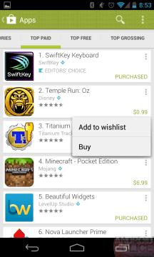 Aplikaci můžete ze seznamu koupit, nebo ji přidat na seznam přání