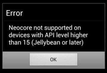 Benchmark NeoCore nebylo možno spustit