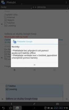 Google Translate vás při startu upozorní na nové funkce