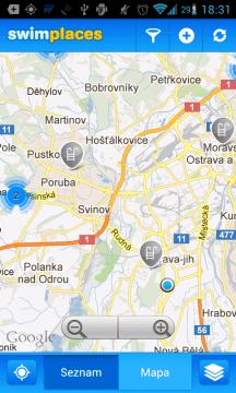 Swim Places – KdeSeKoupat: koupaliště na mapě