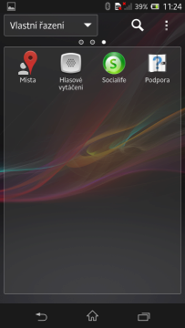V seznamu aplikací je 42 ikonek