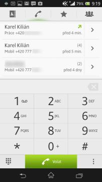 Aplikace pro vytáčení čísel