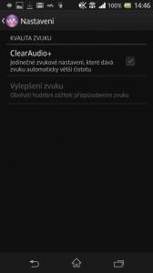 Vylepšení zvuku ClearAudio+