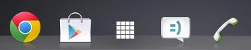 V dolní liště je pětice ikon