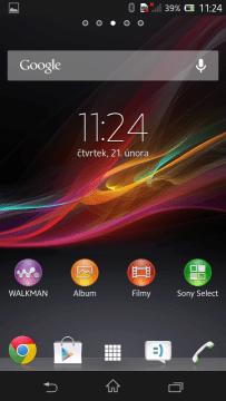 Launcher přichází si pěti domovskými obrazovkami