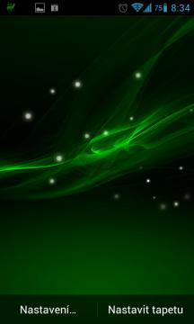Xperia Z Live Wallpaper v zelené