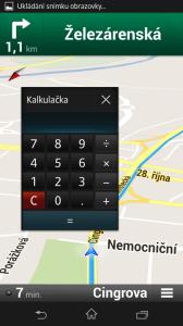 Miniaplikace kalkulačka v plovoucím okně
