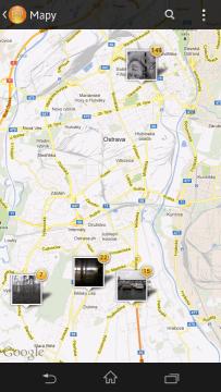 Zobrazení mapy fotografií podle místa pořízení