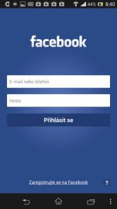 Aplikace Facebook