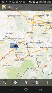 Latitude - mapové zobrazení