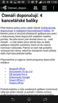 OfficeSuite 6 - textový dokument