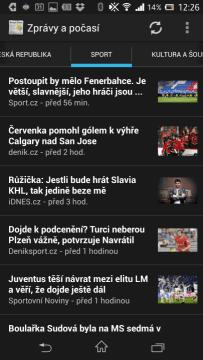 Zprávy ze sportu
