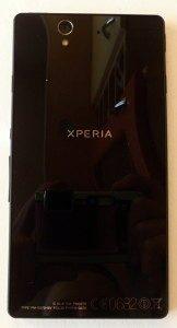 Zadní strana telefonu Sony Xperia Z