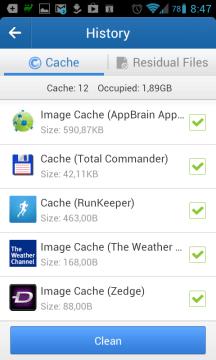 Smazání vyrovnávací paměti aplikací