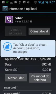 Clean Master nechává mazání dat na systému