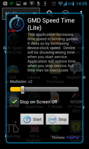 Aplikace má velmi jednoduché ovládání