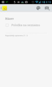Aplikace Google Keep ukazuje trend vzhledu OS Android