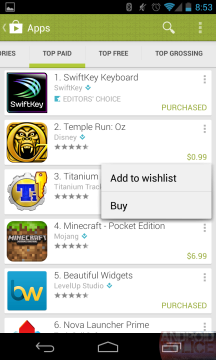 Sekce Aplikace Obchodu Play v novém hávu