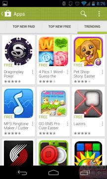 Nové pojetí jednoho ze seznamů Obchodu Play