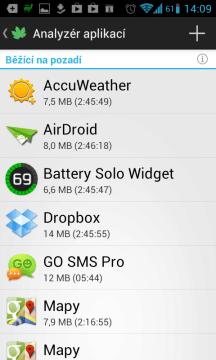 Výpis aplikací, běžících na pozadí