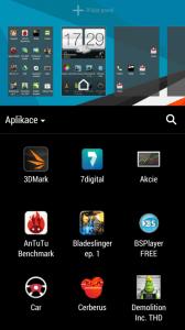 Přidávání Widgetů a aplikací na plochu