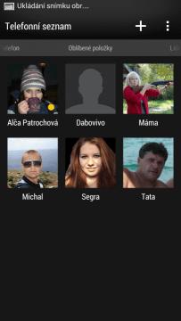 Do Oblíbených položek si každý může přidat časté kontakty