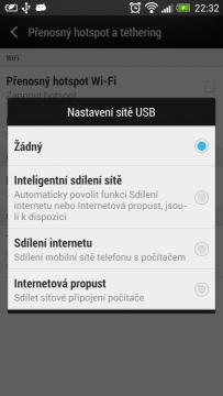 Telefony HTC umí jako jedny z mála reverzní tethering