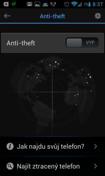 Funkce anti-theft