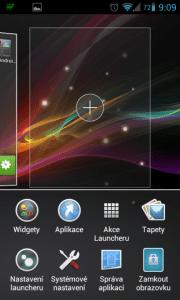 V Xperia Launcheru je přidání další obrazovky hračkou