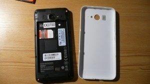 Zadní strana mobilu