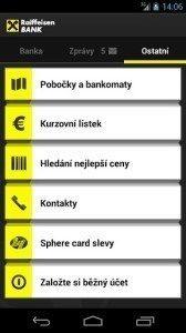 Mobilní eKonto Raiffeisenbank