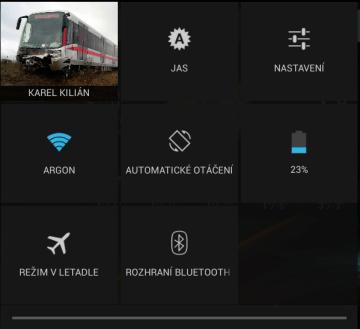 Rychlá nastavení v Androidu 4.2