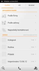 Kontakty Xiaomi Mi2