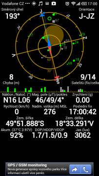 Test satelitů