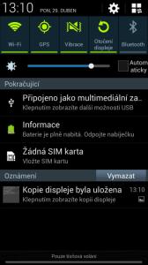Galaxy S4 se standardně připojuje jako MTP zařízení