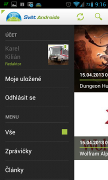 svetandroida.cz: nabídka aplikace