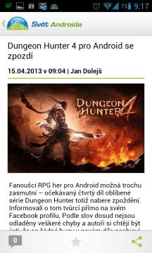 svetandroida.cz: otevřený článek
