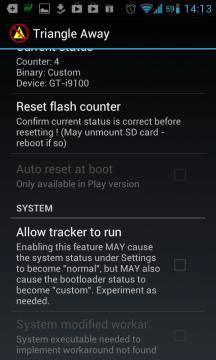 Stačí stisknout Reset flash counter