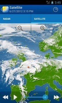 WeatherPro: satelitní snímky