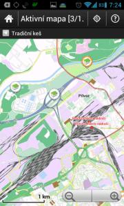 c:geo - živá mapa s keškami