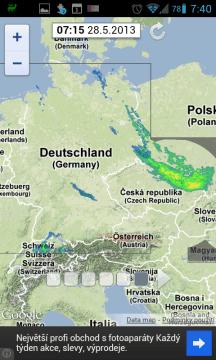 Počasí: Srážkový radar