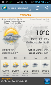 Android Weather & Clock Widget: aktuální situace