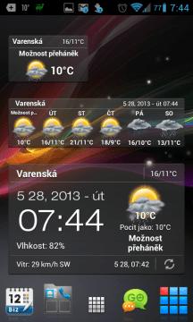 Android Weather & Clock Widget: widgety