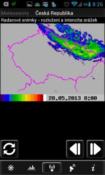 Meteoservis: srážkový radar