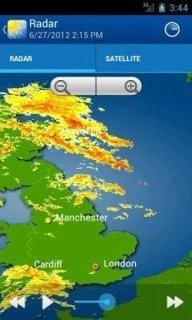 WeatherPro: srážkový radar