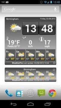 WeatherPro: widgety