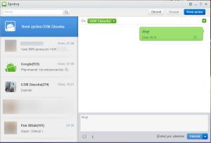 Aplikace pro čtení a psaní SMS