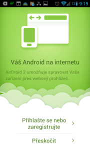 Novinky AirDroid 2.0: připojení přes Internet