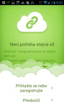 Novinky AirDroid 2.0: telefon a PC nemusí být ve stejné síti